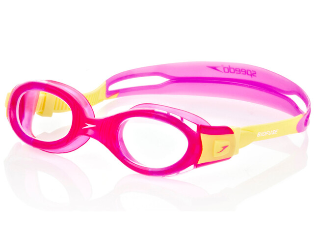 speedo Futura Biofuse Goggles Juniors Pink/Yellow